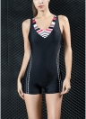 Women Sports One Piece Swimsuit Professional Racing Swimwear Monokini Bathing Suit Beachwear