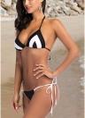 Frauen zwei Stück Bikini Set Dreieck Neckholder gepolsterte Bandage Badeanzug