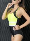 Costume intero Swimwear da bagno intero, colore Monokini imbottito in contrasto di colore