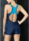 Women One-Piece Swimwear Color Splice Cut Out  Padding  Bathing Suit Swimsuits
