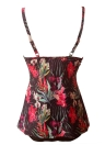 Women Flower Print Tankini Top Underwire Skirted Swimsuit Swimwear Bathing Suit
