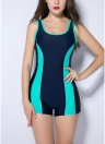Women Sports One Piece Swimsuit Racing Swimwear i Bathing Suit Beachwear Boxer Bodysuit