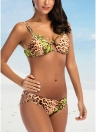 Women Bikini Set Leopard Print Padded Top Bottom Beach Swimwear Swimsuit Bathing Suit