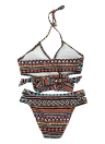 Frauen Bikini Set gepolsterte Top Bottom Beach Bademode Badeanzug Badeanzug