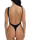 Mulheres One-Piece Push Up Bikini Swimwear Monokini High Cut Backless Bodysuit