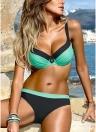 Costume da bagno donna color block Bikini senza schienale fasciatura costume da bagno costumi da bagno