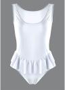 Mulheres One Piece Swimwear Ruffle Monokini Swimsuit Breve Corte Sólido Traje de banho