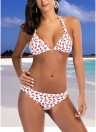 Mulheres Swimsuits Halter Pineapple Watermelon Print Bandage Swimwear Bikini Set Beach Wear