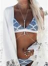 Geometric Print Wireless Swimwear Bikini Set