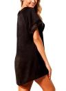 Swimwear casuale irregolare delle donne dell'uncinetto del V-Collo della copertura del vestito da estate della spiaggia