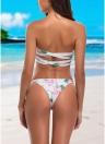 Costumi da bagno donna a fascia alto a vita alta con laccetti laterali