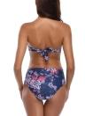 Costume da bagno per costumi da bagno Backless Swimwear stampato a fascia a vita alta da donna