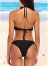 Bikini a vita bassa senza schienale con cinturino in vita