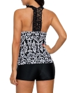 Print Padded Push Up Bathing Suits Tankini