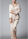 Костюм женской пижамы Faux Silk Mesh