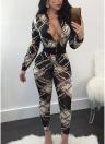 Estampado de la cadena de leopardo estampado de las mujeres