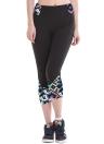 Moda mujer polainas impresión patrón de cintura alta Fitness deportes pantalones Stretch Yoga recortada pantalones
