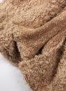 Fashion Women Fleece Hooded Cardigan Open Front Long Sleeve Solid Warm Hoodie Outerwear Loose Sweater Coat