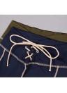 Vestito a matita da un pezzo di mini fasciatura sottile a manica lunga con scollo a V a righe sexy a contrasto