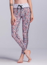 Mulheres Sport Yoga Leggings Contraste Cor Stripe Geometrical Fitness Gym Running Bodycon Pants