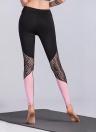 Pantaloni sportivi di yoga della palestra dei pantaloni a vita bassa attillati magri a vita alta delle ghette sportive
