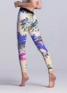 Женские тренажёрные поножи Красочные цветочные печати Смешанные брюки с высокой талией