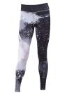 Сексуальные женские тонкие спортивные поножи йоги Специальная печать Кожаные штаны для карандашей Брюки