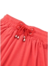 Falda de bolsillo lateral de corte alto con abertura en línea para mujer