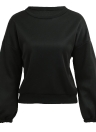 Frauen lose Fleece Lace Up Bandage Manschette Rundhals Langarm Casual Sweatershirt