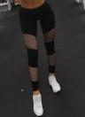 Mulheres Fitness Yoga Sports Mesh Inserção Meias Exercício Correndo Skinny Casual Leggings