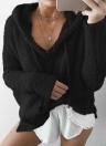 Frauen Warm Kordelzug Kapuzenpullover Pullover Kunstpelz Outwear Hoodie Casual Mantel