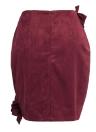 Falda de gamuza de las mujeres atractivas Falda de cintura alta de las colmenas