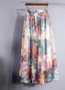 Boho Floral Maxi High Waist Chiffon Floral Skirt