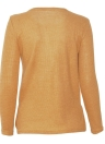 Autumn Button Up Side Split Round Neck Long Sleeves Women's Pullover