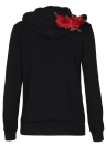 Women's Floral Embroidered Drawstring Hoodies