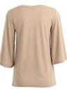 Moda Mulheres Blusa de pescoço com blusa blusa casual