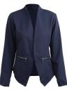 Autumn Spring Business Suit High-Low Women Blazer Coat