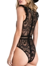 Sexy One Piece Sheer Lace Deep V-neck Wireless  Women's Lingerie