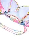 Sweet Colorful Dot Print Push Up Top Bikini Set  Beach Swimwear