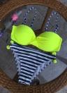 Sexy Kontrast-Farben-Bügel Push-Up Striped Punkt-Druck-Frauen-Bikini