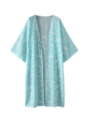 Mulheres Kimono Beach Cover Up Outerwear