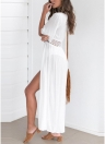 Copriscarpe maxi da donna sexy in chiffon all'uncinetto