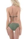 Sexy Frauen aushöhlen verstellbarer Halter niedrige Taille gepolsterte zwei Stück Bikini Set