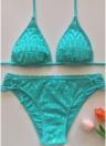 Bikini senza fili delle donne sexy della fasciatura del Halter della fasciatura