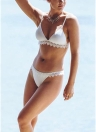 Women Triangle Bikini Set Crochet Trim