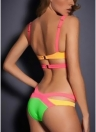 Costume da bagno donna Trangle Bandage Set push-up cut-out senza maniche