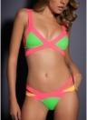 Frauen Trangle Bandage Bikinis Set Push-Up Cut Backless Badeanzüge