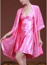Женское шелковое атласное спящее платье Комплект из двух частей для нижнего белья