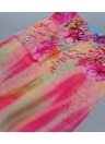 Stylish Floral Print Gradient Color Long Beach Chiffon Scarf