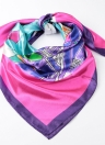 Fashion Colorful Small Town Print Shaw Pashima Kerchief Square Scarf
